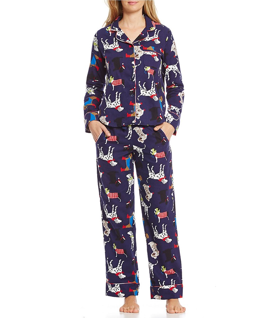 Van Winkle & Co. Fancy Dogs Flannel Pajamas