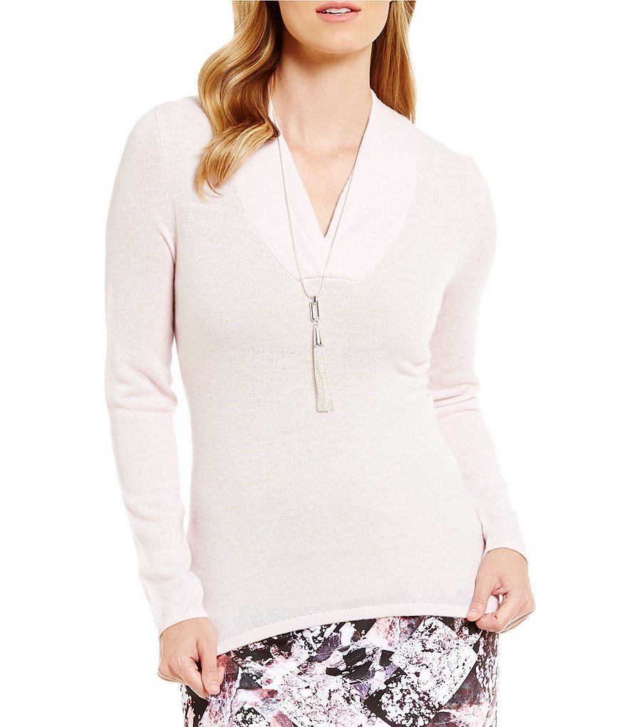 Alex Marie Monica V-Neck Cashmere Sweater