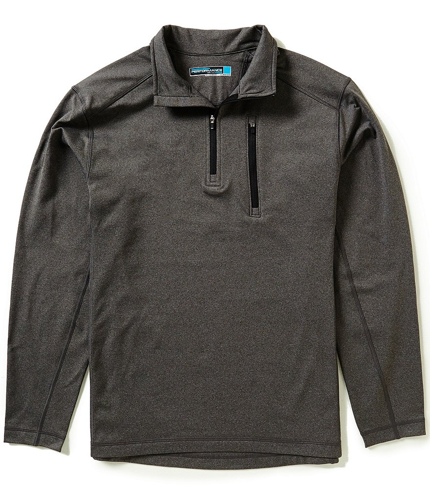 Roundtree & Yorke Performance Long Sleeve Half Zip Pullover
