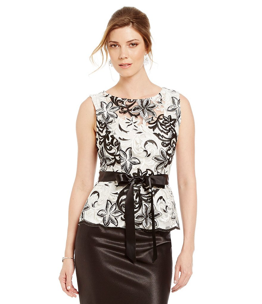Marina Sleeveless Embroidered Ribbon Top