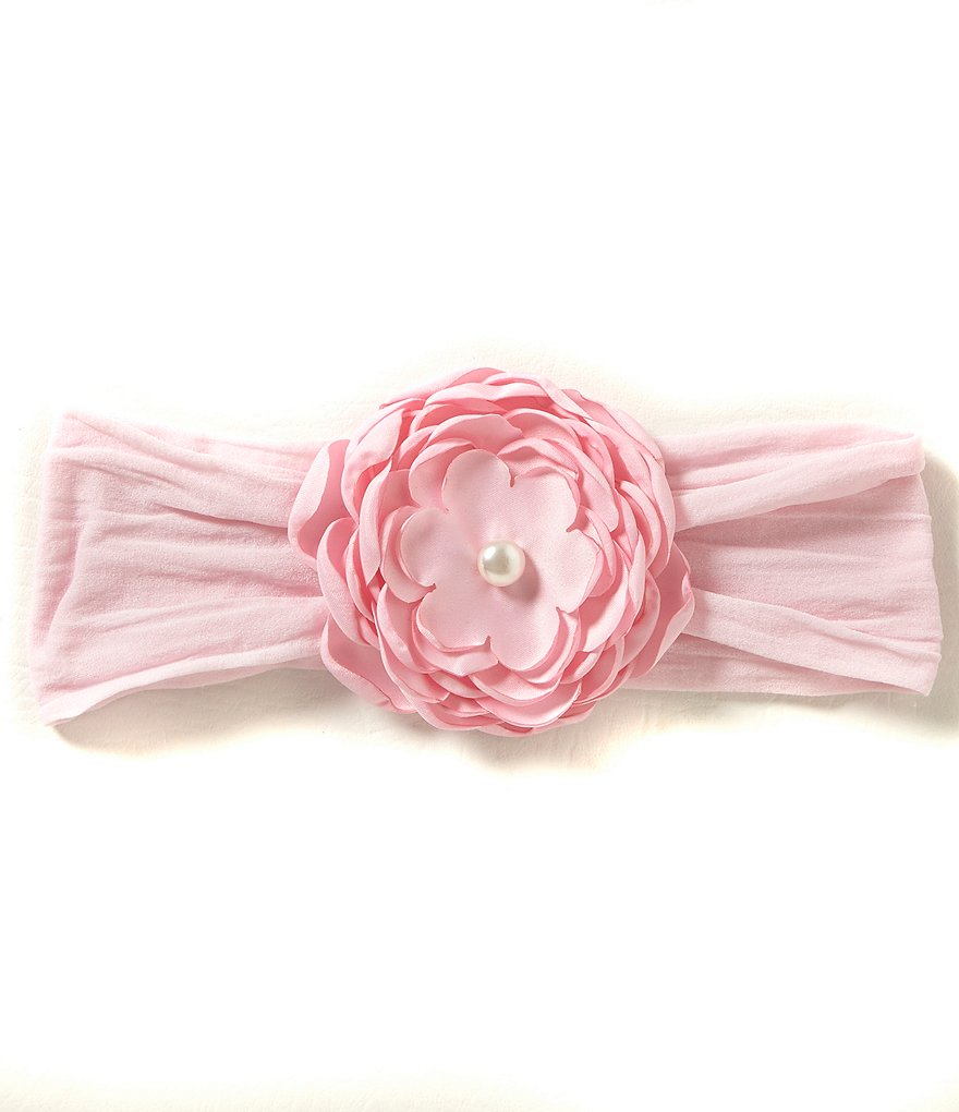 Starting Out Baby Girls Silk Peony Headband