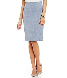 Preston & York Kelly Crosshatch Suiting Pencil Skirt Image