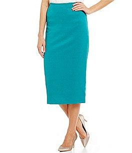 Preston & York Taylor Stretch Basketweave Suiting Pencil Skirt Image
