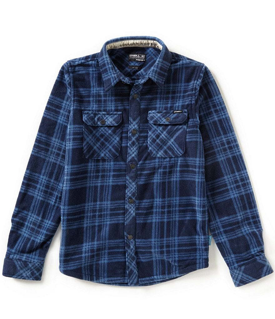 O´Neill Boys 8-20 Glacier Plaid Snap-Front Superfleece Shirt