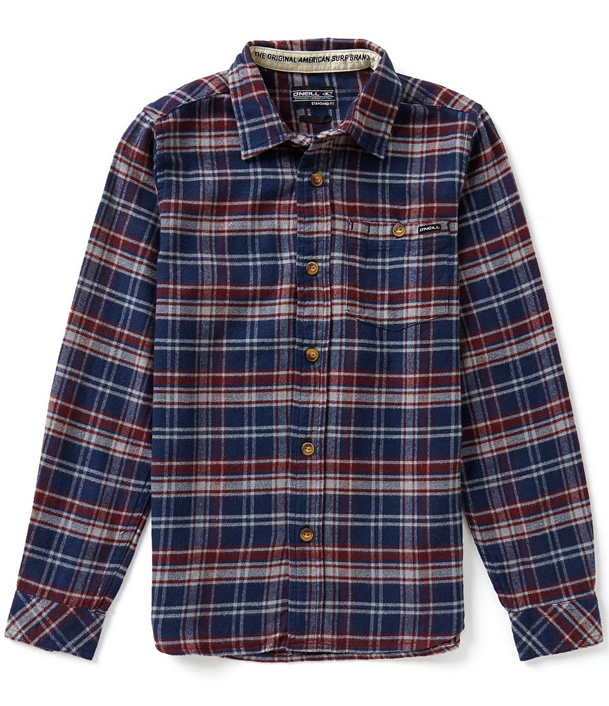 O´Neill Big Boys 8-20 Redmond Plaid Brushed Flannel Shirt