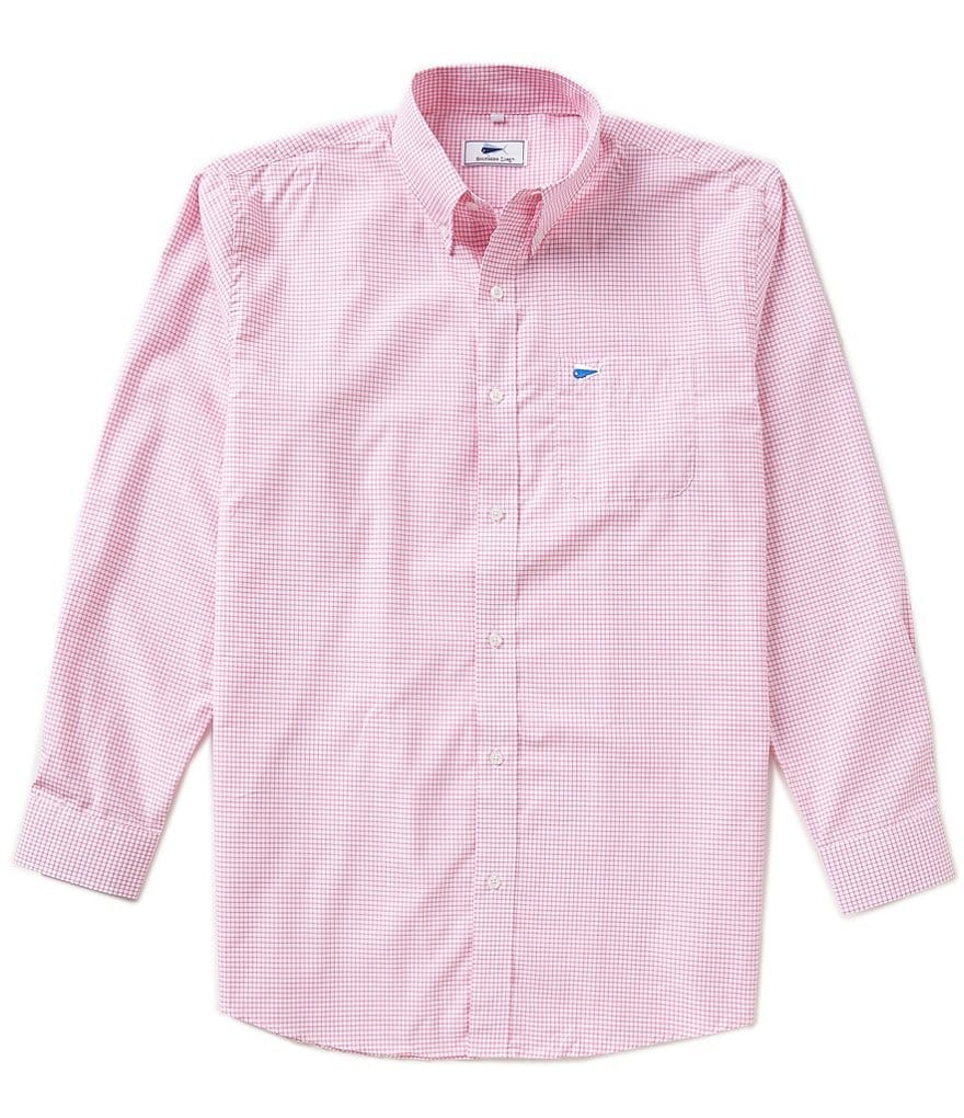 Southern Lure Checked Woven Long Sleeve Sportshirt