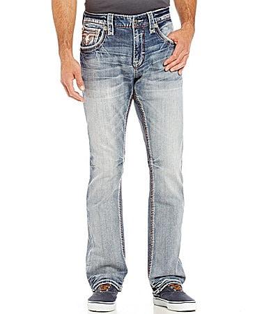 Rock Revival Raynon Straight-Leg 5-Pocket Denim Jeans