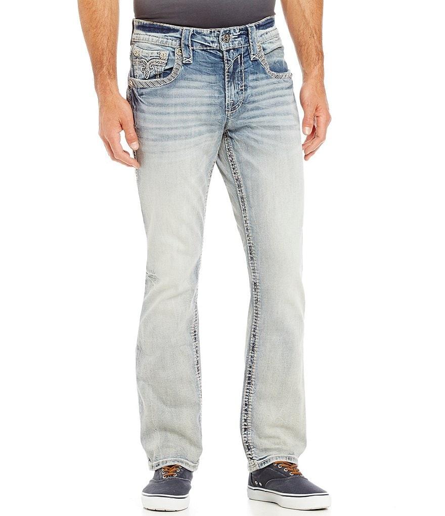Rock Revival Bazel Straight-Leg 5-Pocket Denim Jeans