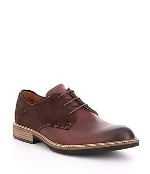 ECCO Men´s Kenton Vintage Leather & Suede Plain Toe Lace-Up Oxfords