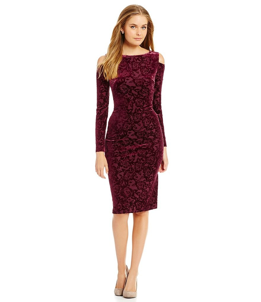 Maggy London Rose Burnout Velvet Dress