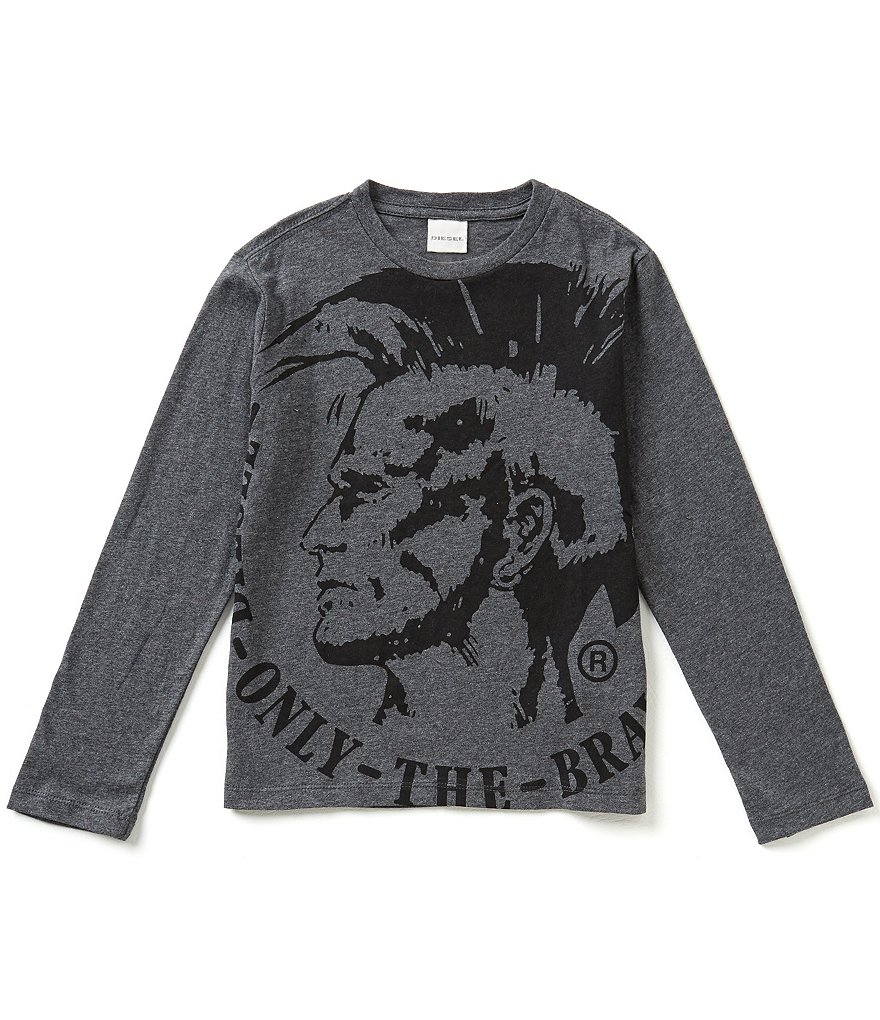 Diesel Big Boys 8-16 Mohawk Logo Graphic Long-Sleeve Tee