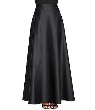 Alex Evenings Petite Long Illusion A-Line Skirt
