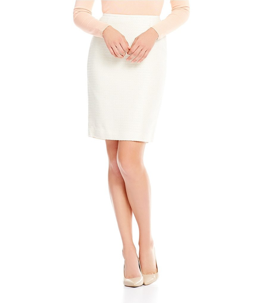 Calvin Klein Sequined Boucle Pencil Skirt
