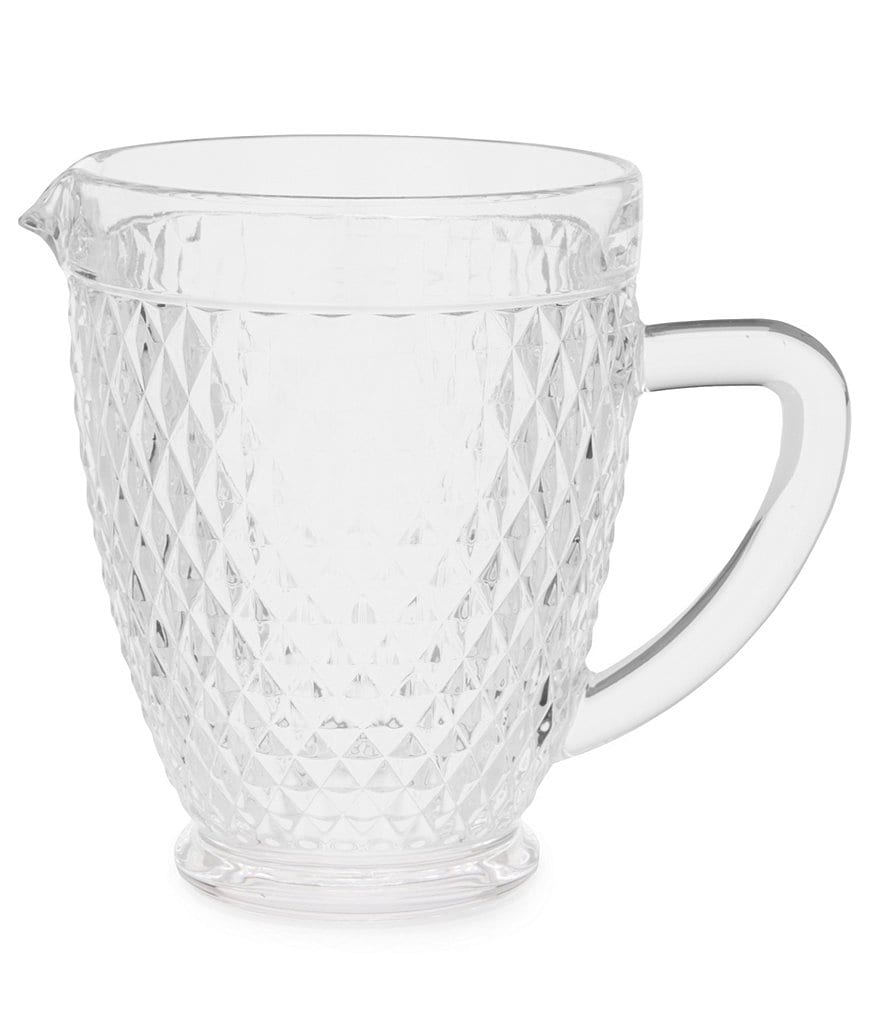 Southern Living Diamond-Cut Glass Pitcher