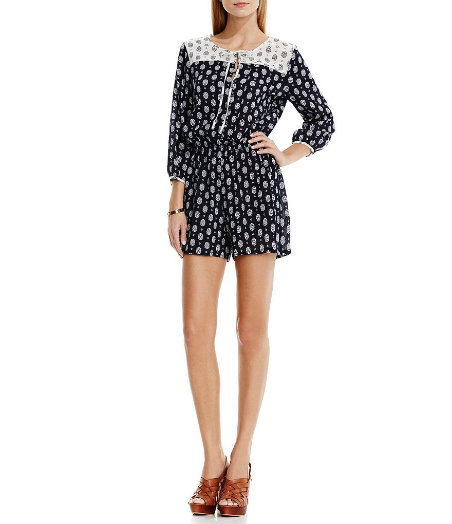 Two By Vince Camuto Madras Foulard Romper