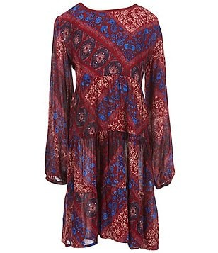 Zoe & Rose By Band Of Gypsies Big Girls 7-16 Tiered Dress