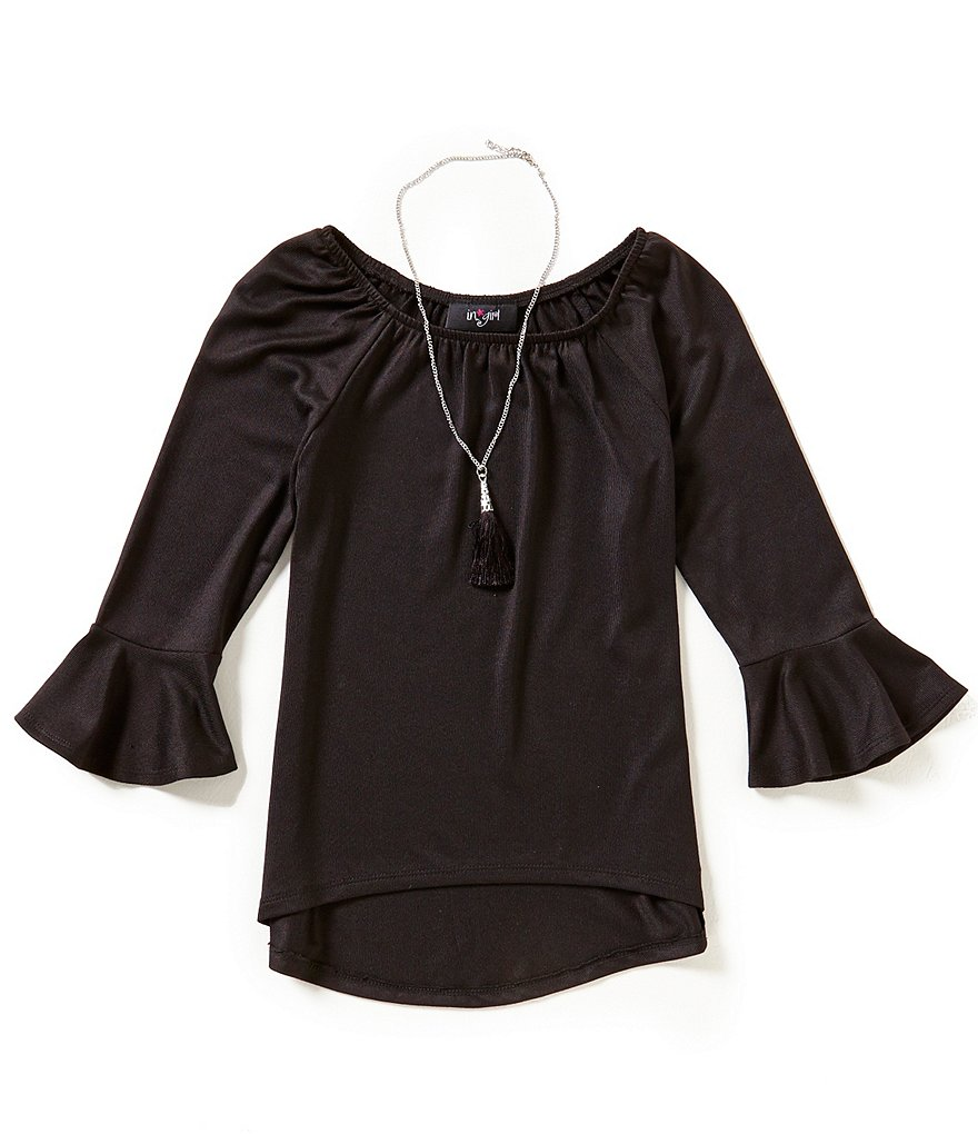 I.N. Girl Big Girls 7-16 Bell-Sleeve Top