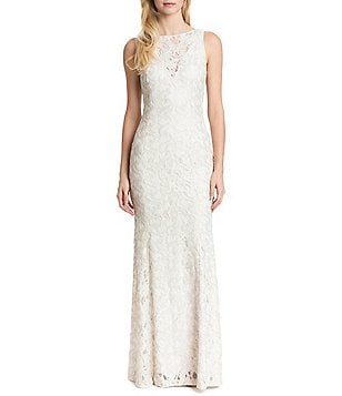 Belle Badgley Mischka Raissa Lace and Sequin Mermaid Gown