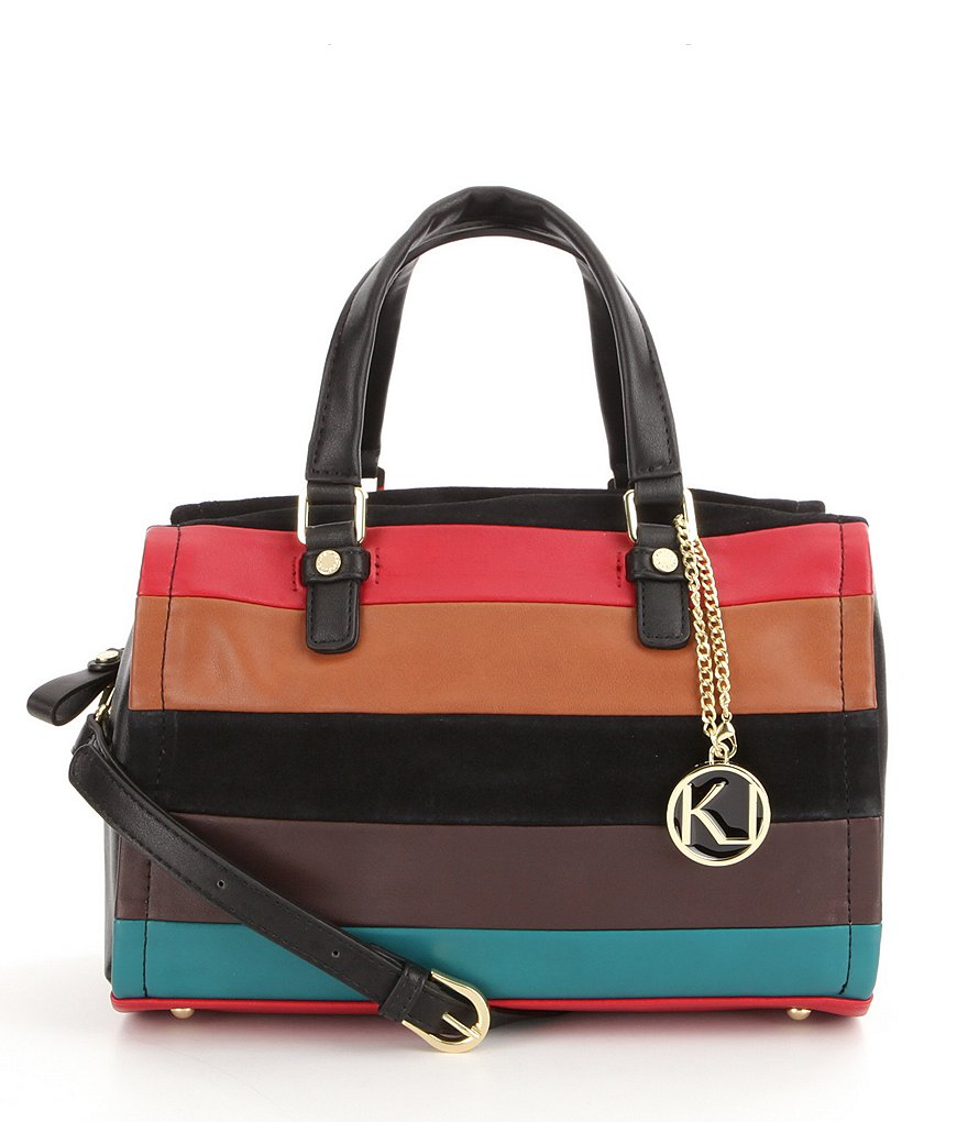 Kate Landry Pieced Stripe Satchel
