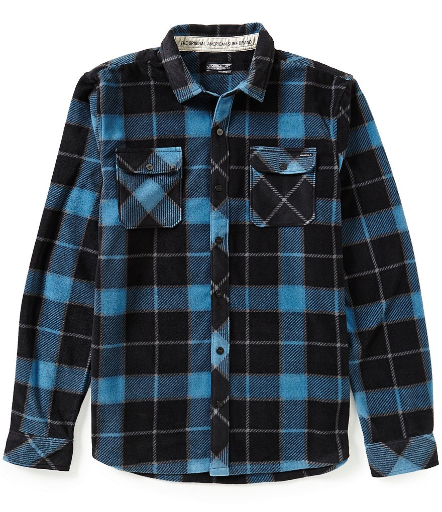 O´Neill Glacier Big-Plaid Long-Sleeve Superfleece Shirt