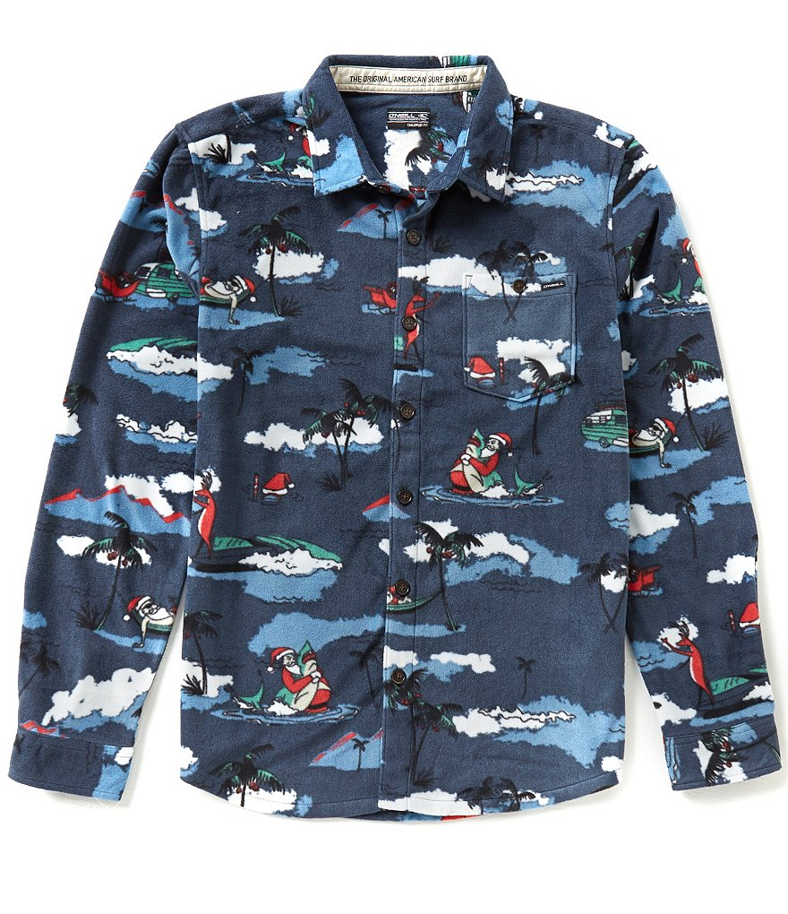 O'Neill Glacier Surf Santa Long-Sleeve Superfleece Shirt