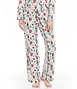 Sleep Sense Petite Coffee & Tea Sleep Pants