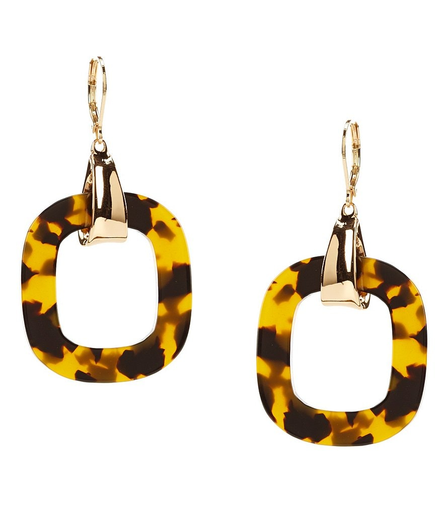 Kennedy Row Tortoise Drop Earrings