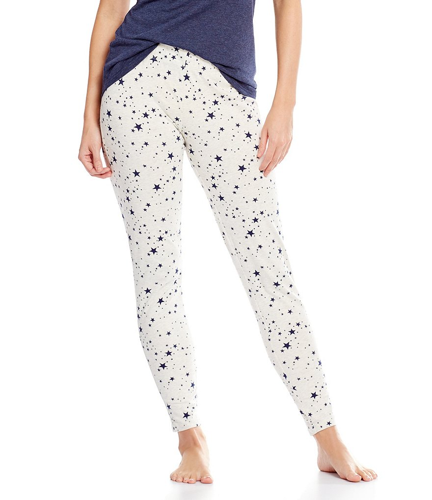 Jasmine & Ginger Star-Print Sleep Leggings