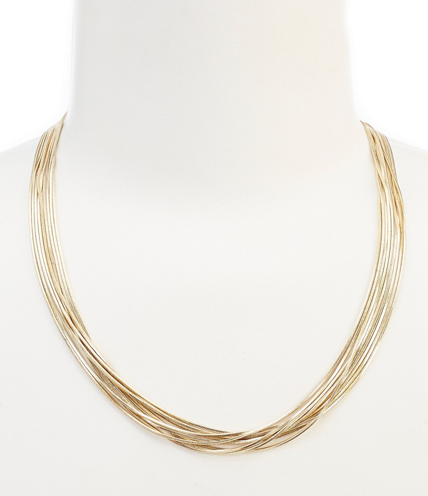 Dillard´s Tailored Snake Chain Multi-Strand Necklace