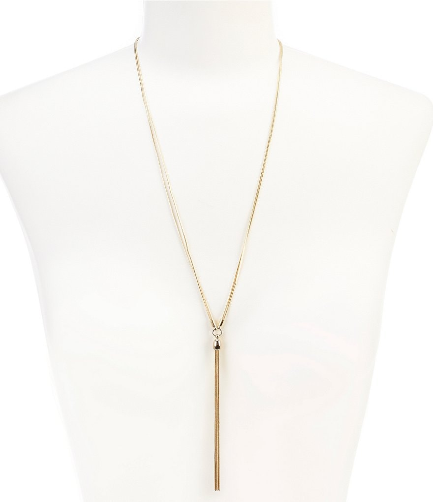 Dillard´s Tailored Snake Chain Tassel Pendant Necklace