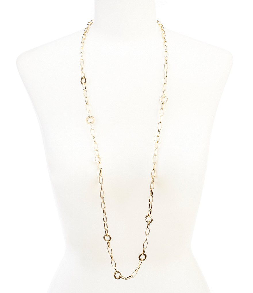 Dillard´s Tailored Hammered Link Necklace