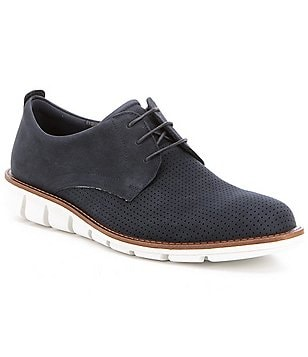 ECCO Men´s Jeremy Perforated Leather Lace-Up Oxfords