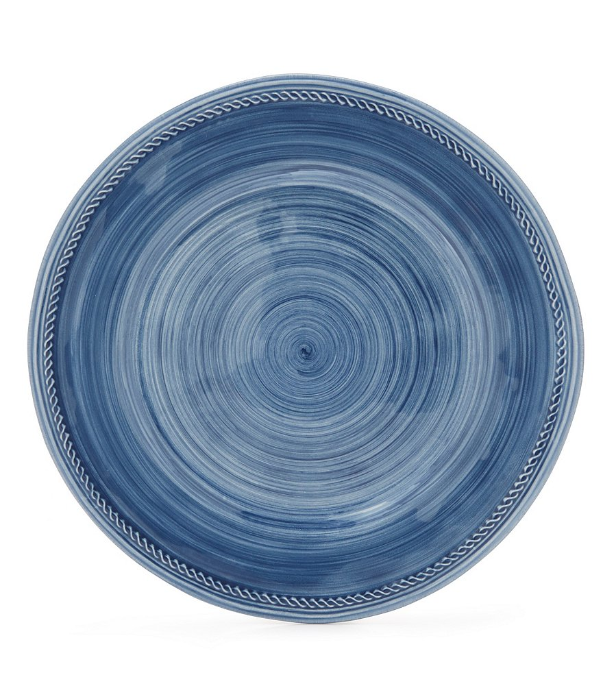 Cremieux Rope-Embossed Earthenware Dinner Plate