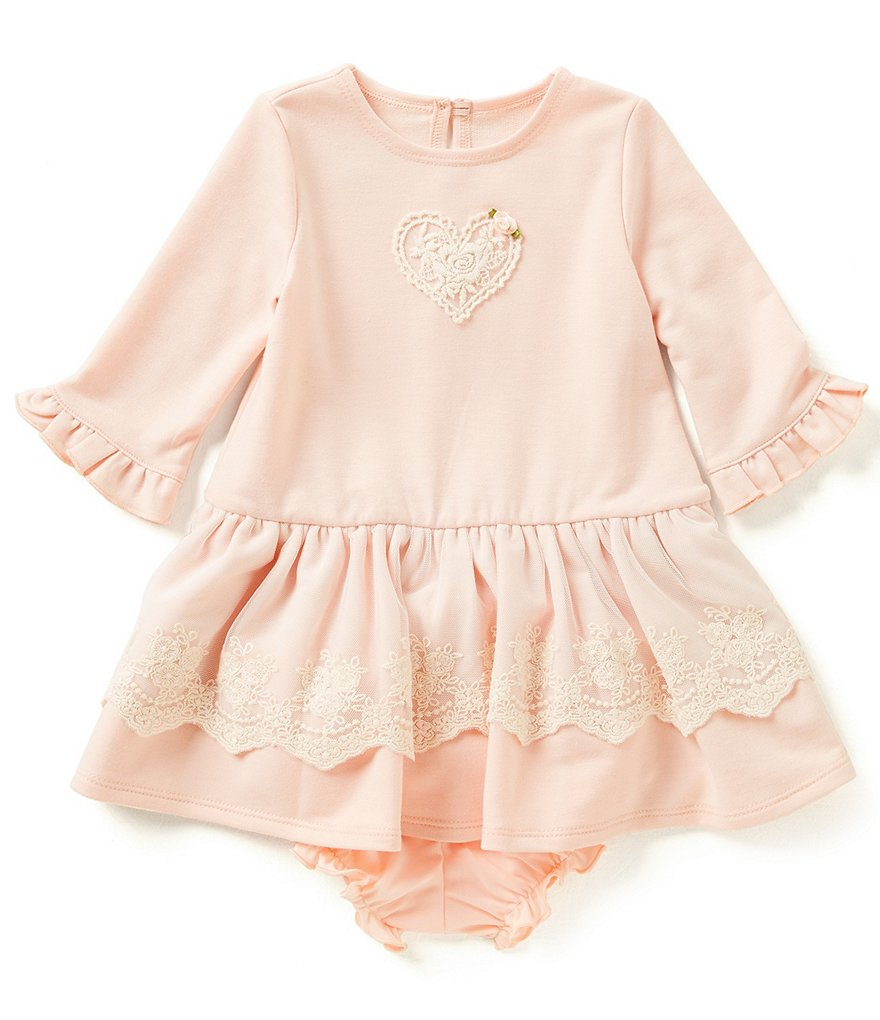 Marmellata Baby Girls 12-24 Months Heart Ruffle-Hem Dress