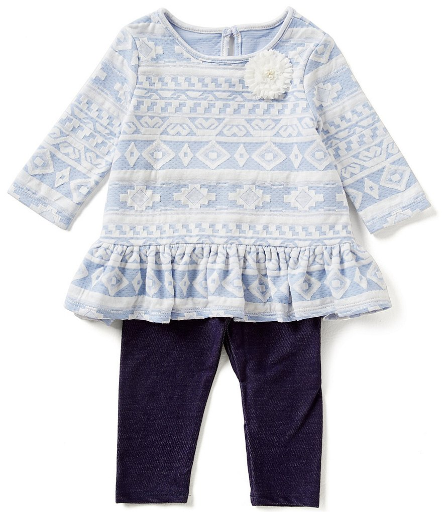 Marmellata Baby Girls 12-24 Months Tribal Top and Leggings Set