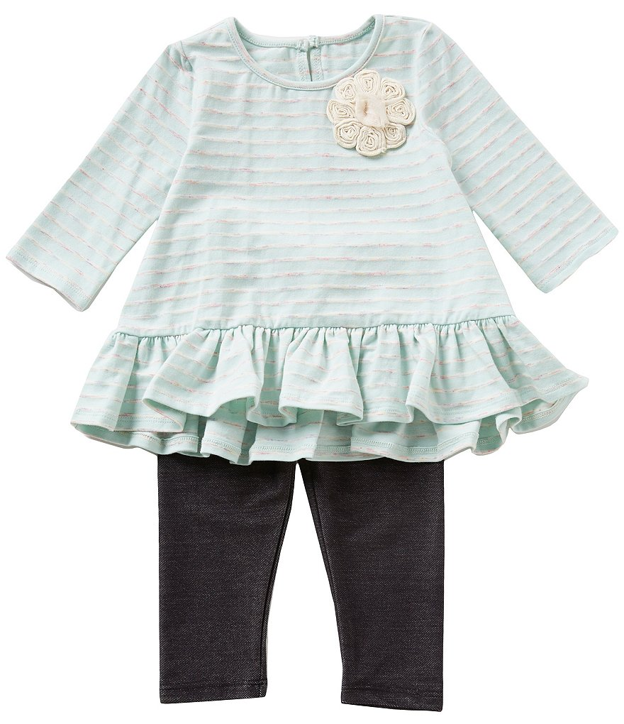 Pippa & Julie Baby Girls 12-24 Months Drop-waist Knit Dress & Leggings Set