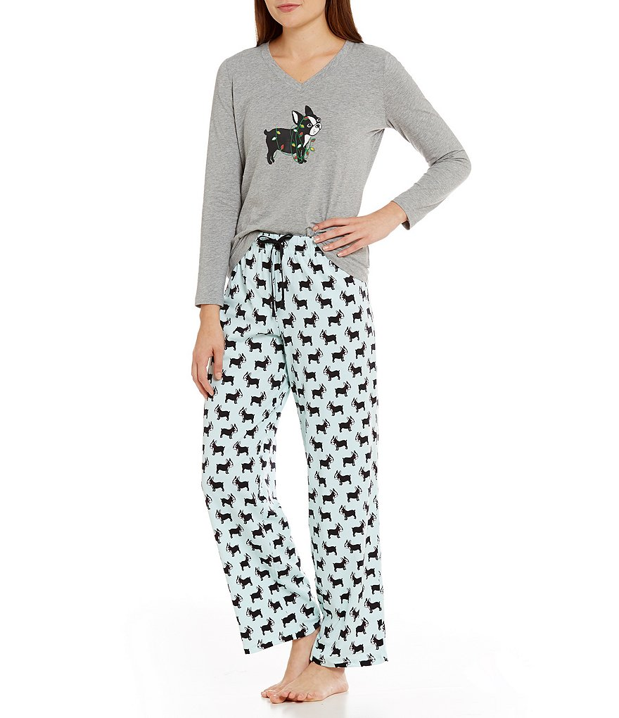 Sleep Sense Petite Terrier in Lights Pajamas