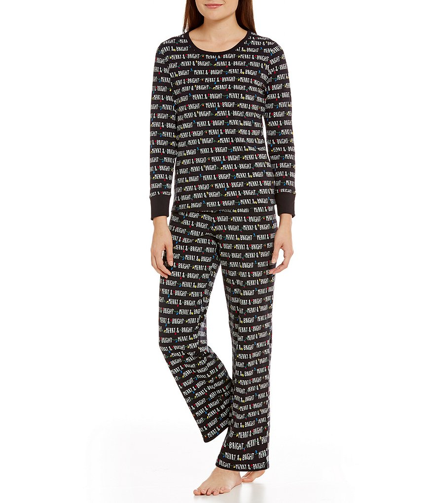 Sleep Sense Petite Merry Lights Pajamas