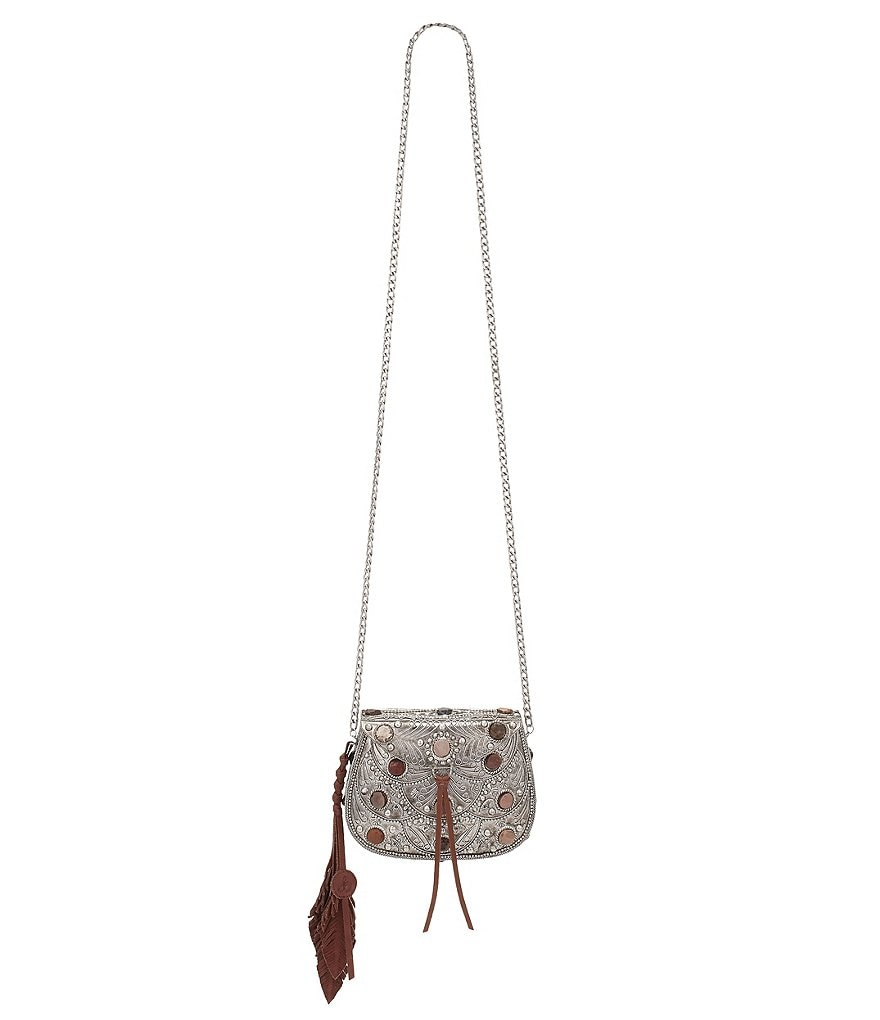 Sam Edelman Thana Iron & Leather Cross-Body Bag
