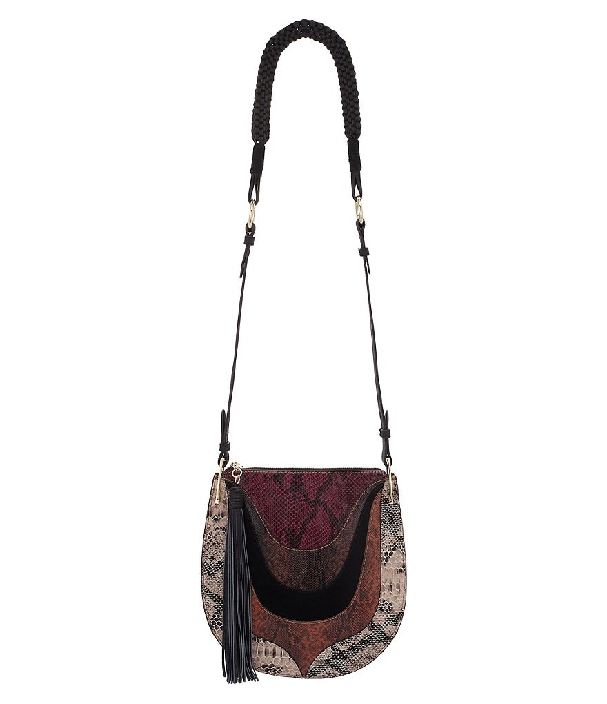 Sam Edelman Sienna Snake-Print Cross-Body Bag