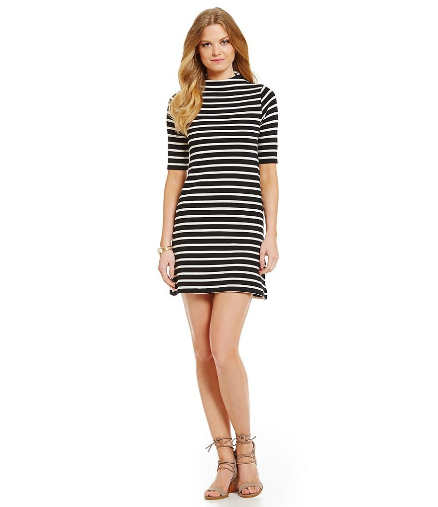 French Connection Terry Stripe Shift Dress