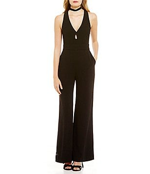 WAYF Sutton V-Neck Keyhole Sleeveless Jumpsuit