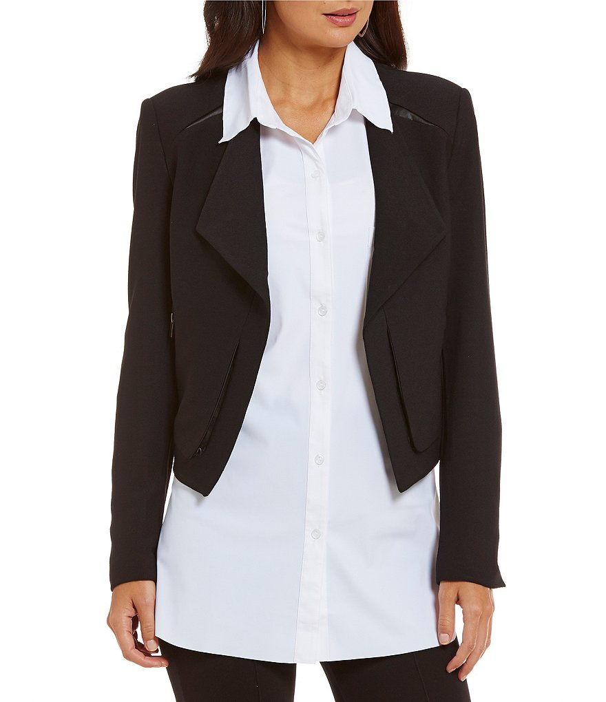 Lysse Leigh Crepe Long Sleeve Jacket