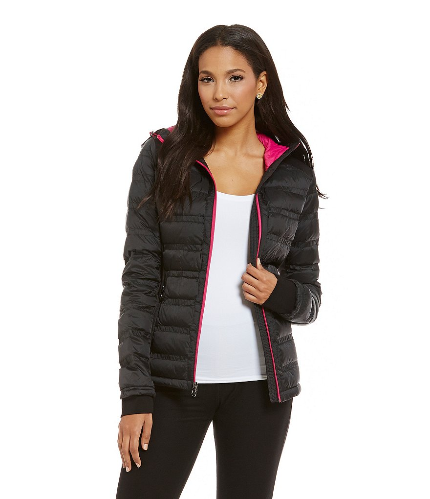 MICHAEL Michael Kors Short Packable Contrast Zipper Jacket