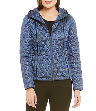 MICHAEL Michael Kors Short Diamond Packable With Hood Jacket