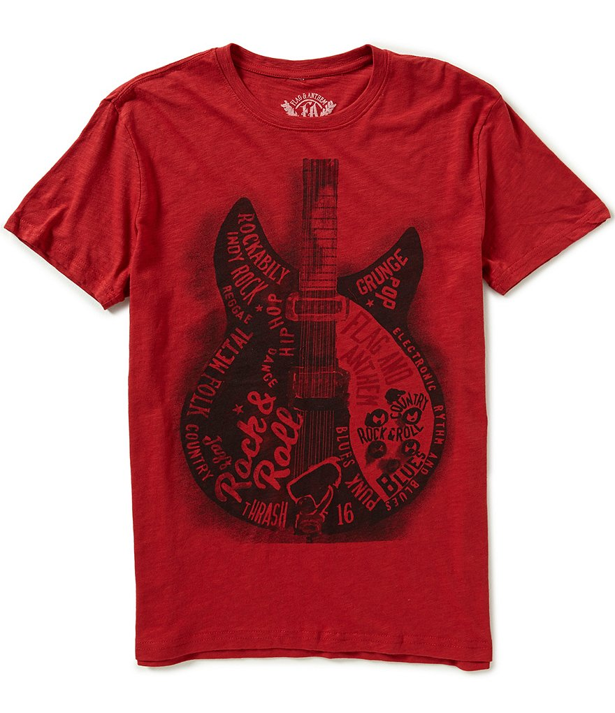 Flag & Anthem Guitar-Printed Short-Sleeve Graphic Tee