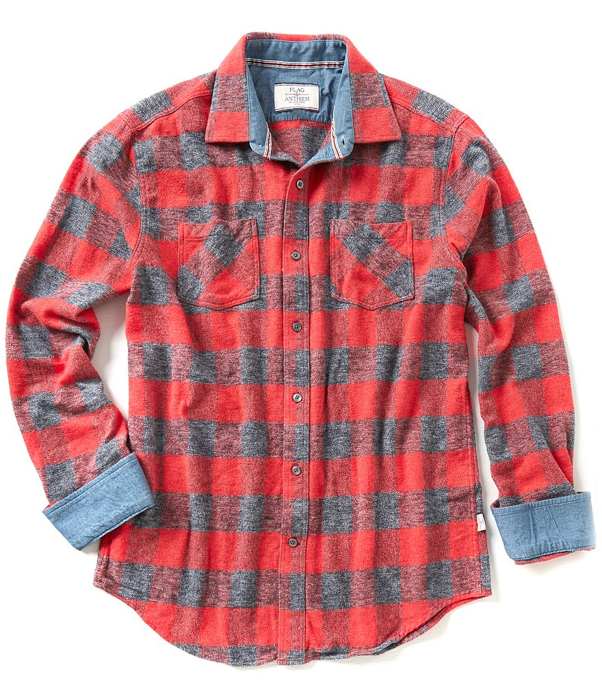 Flag & Anthem Cumberland Buffalo-Check Elbow-Patch Flannel Shirt
