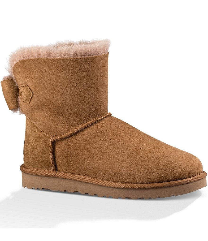 UGG® Naveah Bow Wool Lined Ankle Booties