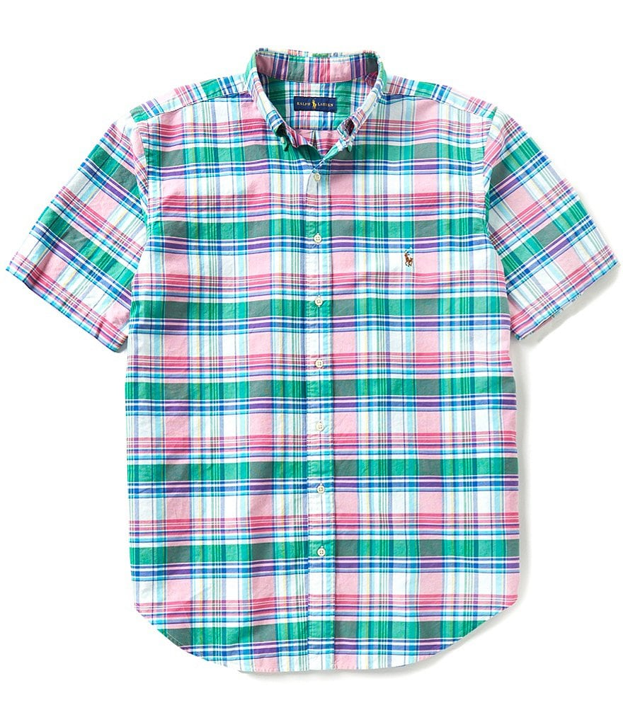 Polo Ralph Lauren Big & Tall Plaid Short-Sleeve Oxford Shirt