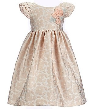 Laura Ashley London Little Girls 2T-6X Floral-Brocade Dress